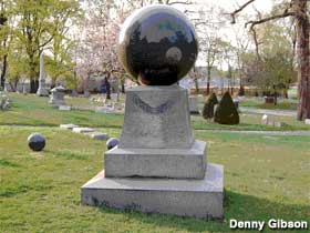 A comparable sphere headstone